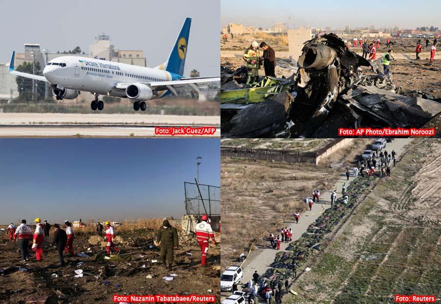 Avião ucraniano cai em Teerã; não há sobreviventes