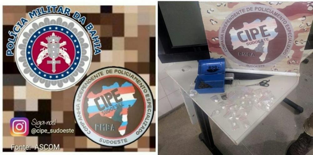 Suspeito de tráfico de drogas é preso em Guanambi