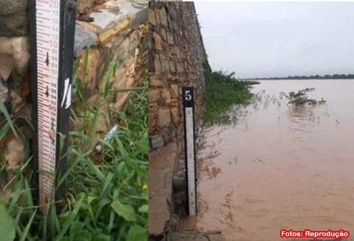 Nível do Rio São Francisco sobe e deixa população em ribeirinha em estado de alerta