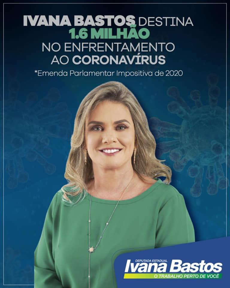 Ivana destina R$1.6 milhão de emenda parlamentar para o combate ao coronavírus