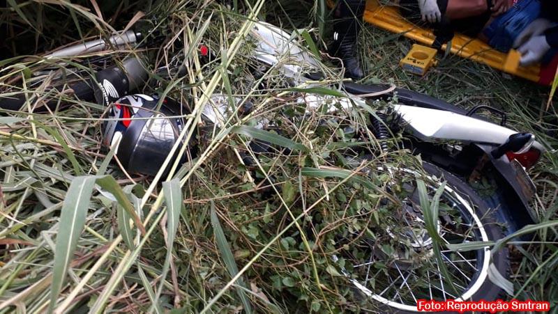 Homem fica ferido em acidente de moto na BA-938 em Guanambi