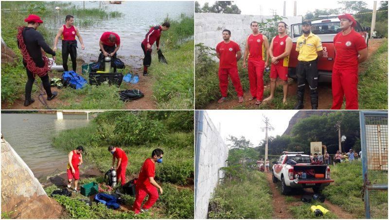 Bombeiros encontram corpo de homem que se afogou na barragem de Ceraíma.
