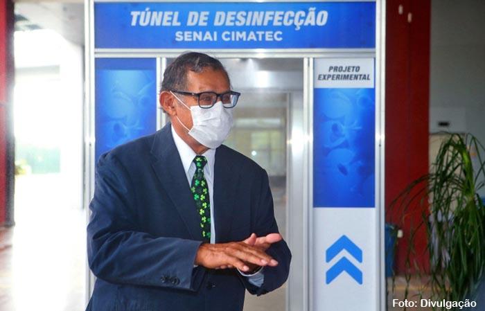 SENAI cria túnel de desinfecção para ampliar segurança de profissionais que atendem pacientes com covid-19