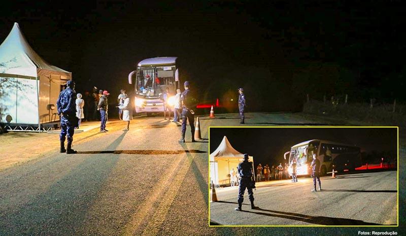 Covid-19: Ônibus é flagrado trazendo pessoas do interior de SP para Matina, Riacho de Santana e Palmas de Monte Alto