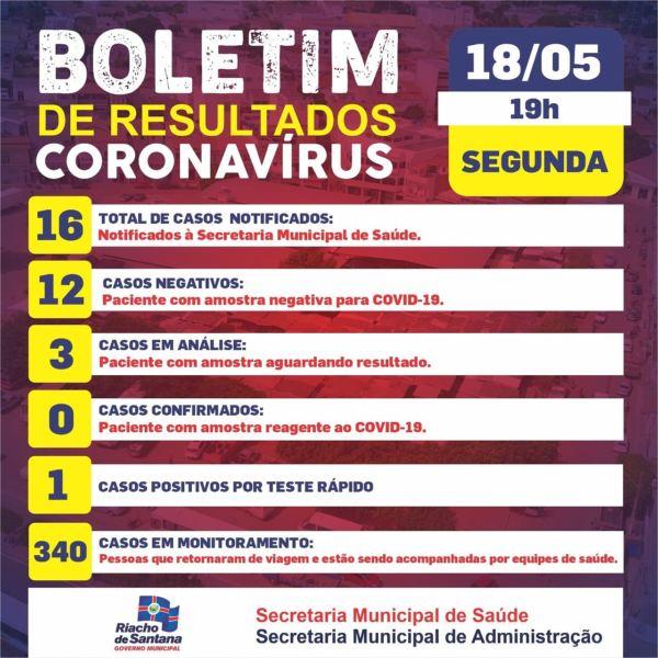 Paciente de Riacho de Santana testa positivo para Coronavírus em teste rápido