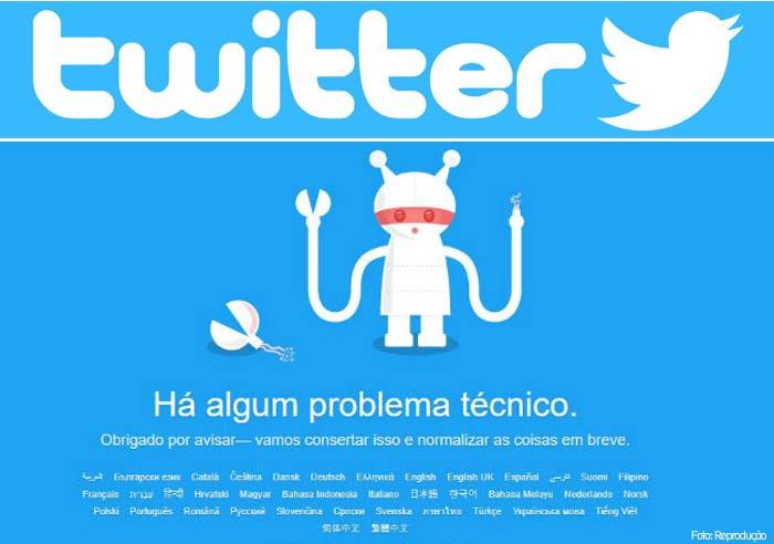 Twitter fica fora do ar nesta quinta-feira