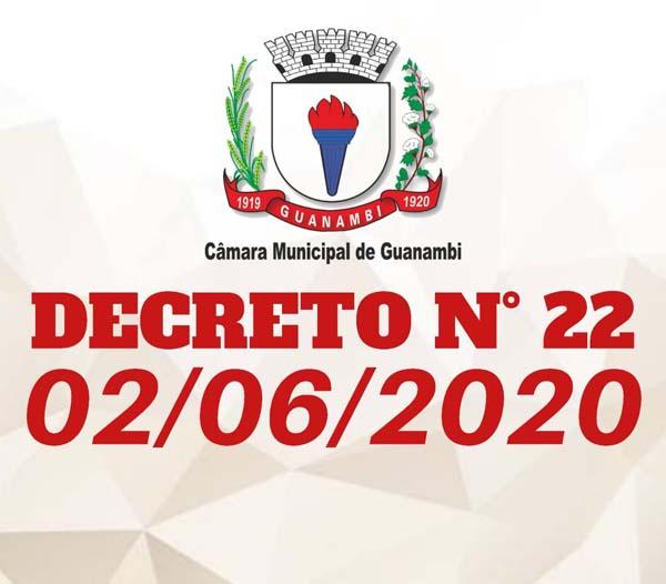 Câmara Municipal de Guanambi emite novo decreto