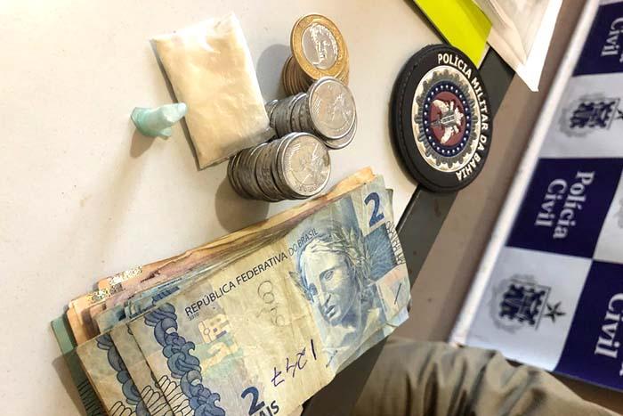 Caculé: Homens são presos por agentes da CIPE e Polícia Militar suspeito de tráfico de drogas