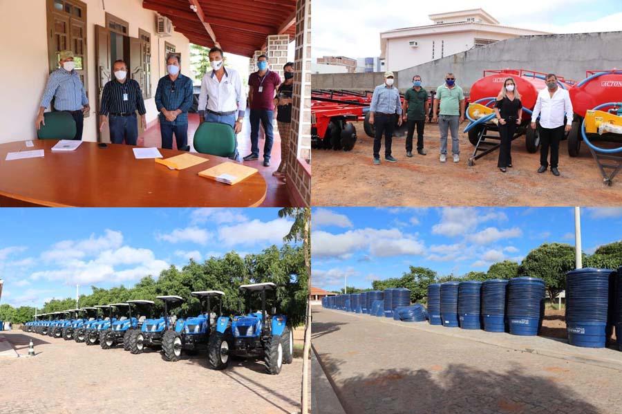 Deputado Charles Fernandes realiza entrega de tratores e implementos agrícolas para associações rurais da região