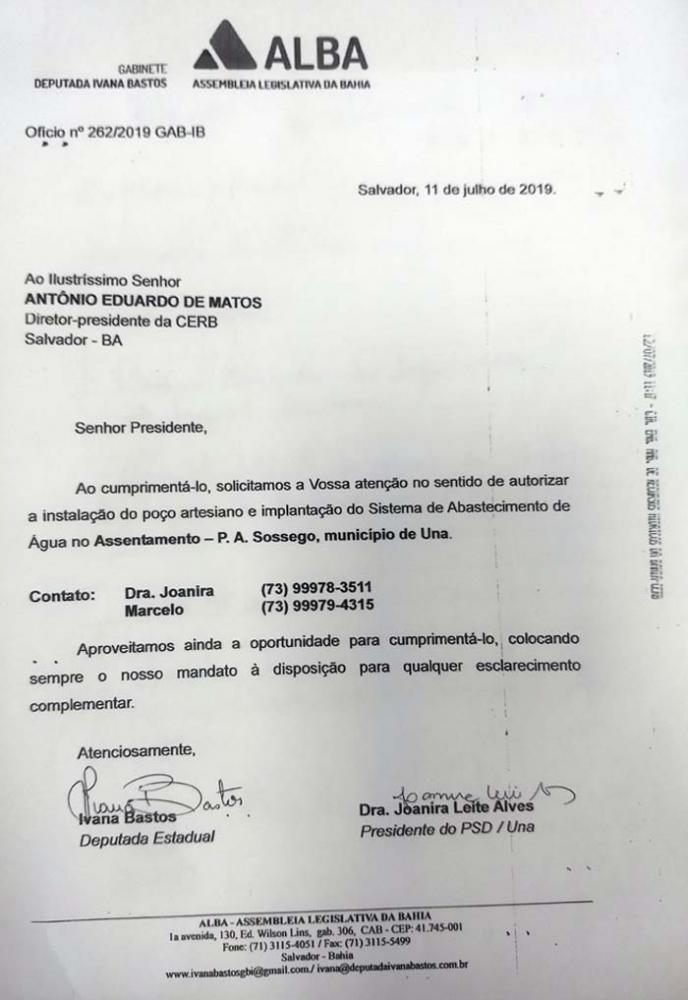 Ivana vai à CERB tratar de demandas do município de Una