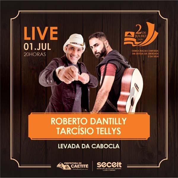 Prefeitura de Caetité promoverá live com show musical em comemoração à Independência da Bahia