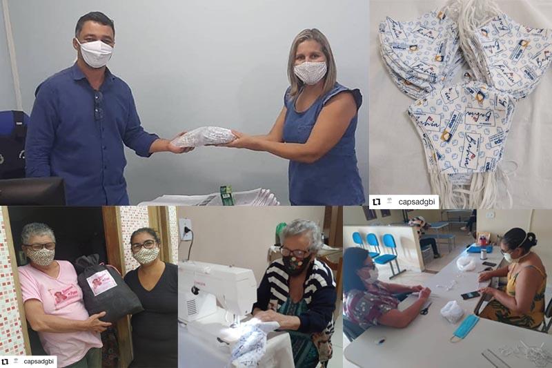 CAPS – AD promove produção e distribuição de máscaras nos bairros da cidade