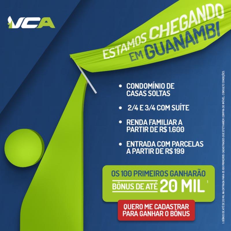 Confirmada a vinda da VCA Construtora para Guanambi