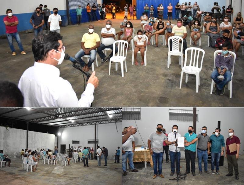 Prefeito Jairo Magalhães anuncia construção de praça no Bairro São Sebastião