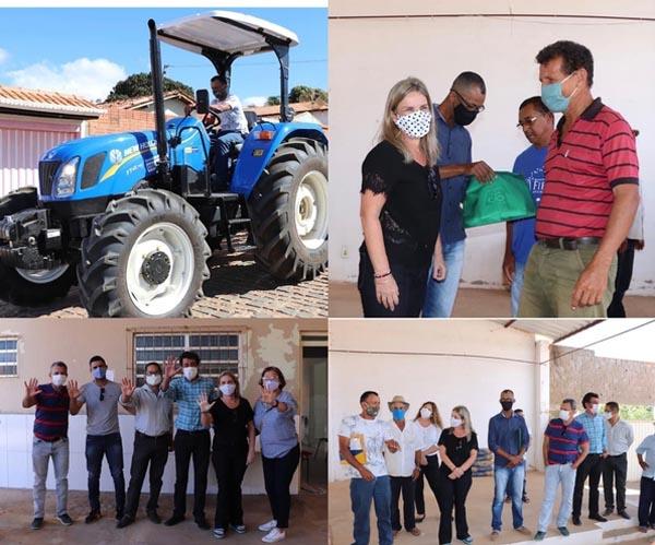Ivana Bastos participa de entrega de trator em comunidade de Pindaí
