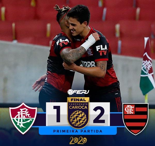 Flamengo vence Fluminense no primeiro jogo da final