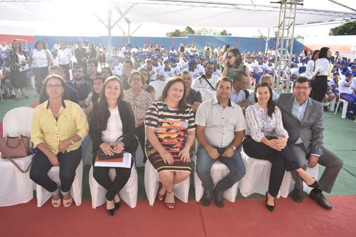 17º BPM e Prefeitura de Guanambi realizam aula magna na Escola Josefina Teixeira