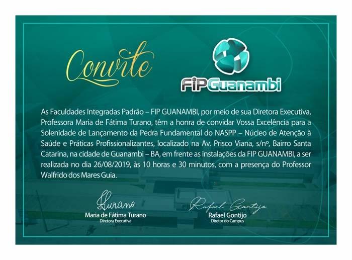 FIPGuanambi dá início à construção do NASPP