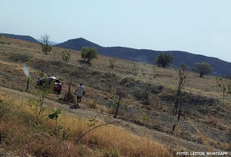 Motorista fica ferido após colisão entre carro e cavalo na BR-122, em Guanambi; veja vídeo