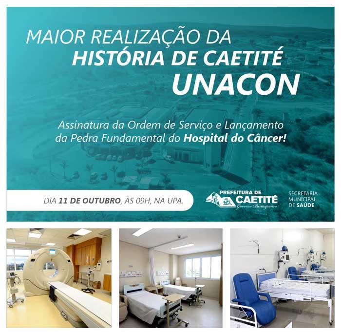Maior realização da história de Caetité: ordem de serviço do Hospital do Câncer será assinada nessa sexta-feira (11/10)