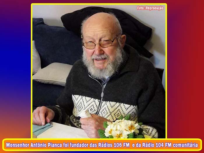 Morre o Monsenhor Antônio Pianca fundador da Rádio 106 FM Guanambi