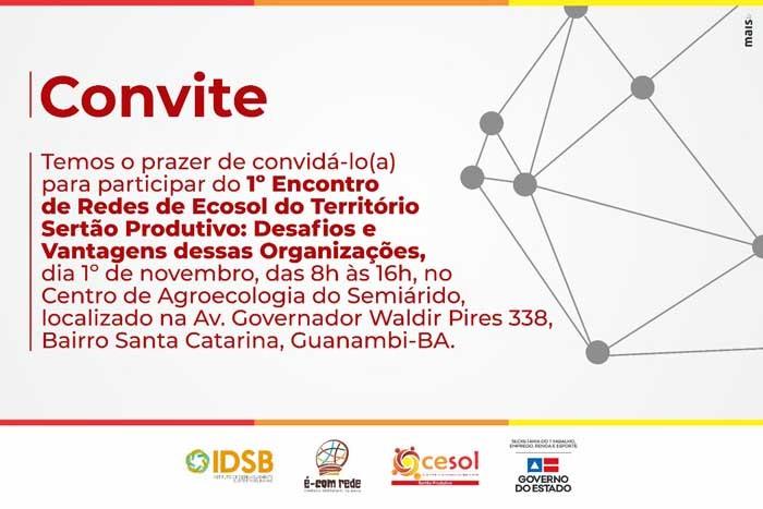 Cesol Sertão Produtivo promove o 1° Encontro de Redes de Ecosol do Território