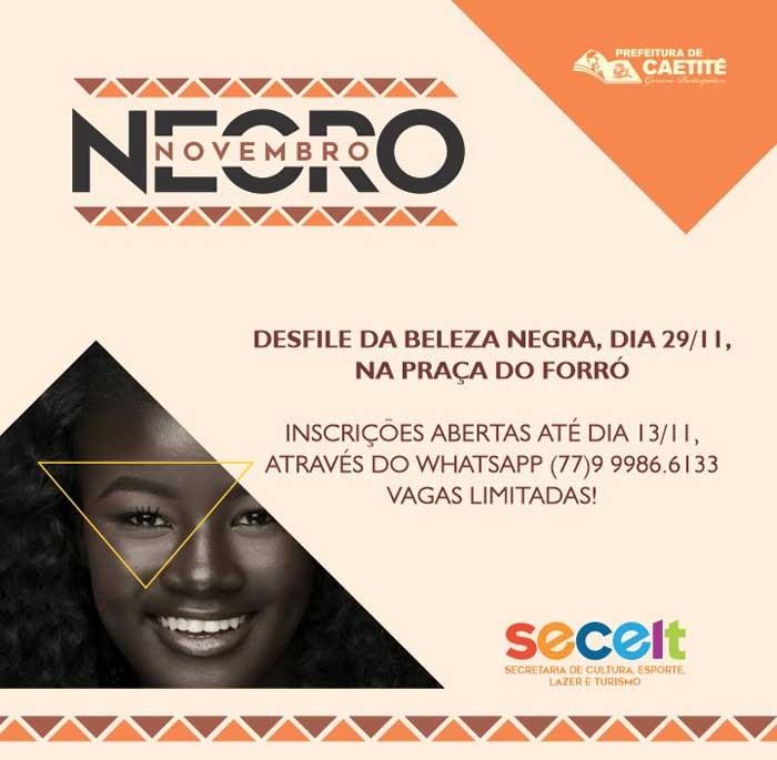 Novembro Negro incentiva protagonismo e consciência negra em Caetité
