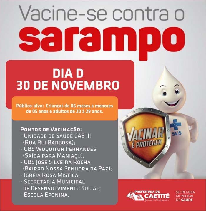 Campanha de vacinação contra sarampo com foco em crianças e jovens acontece em Caetité