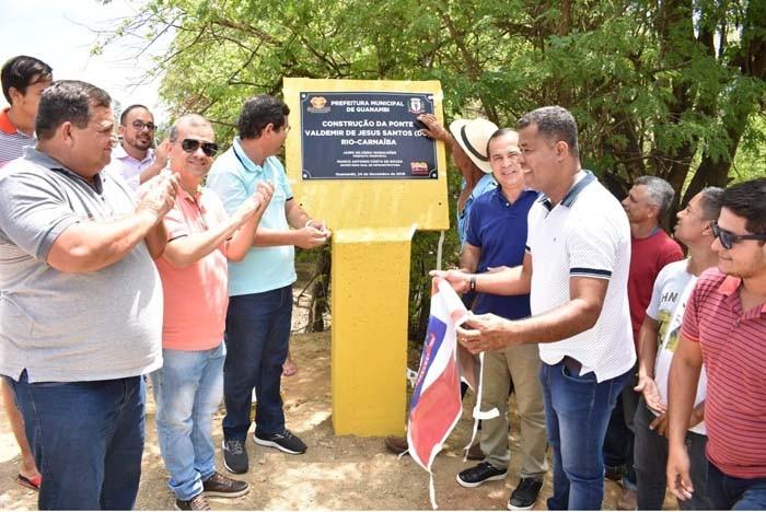 Prefeitura de Guanambi entrega mais dois pontilhões na zona rural