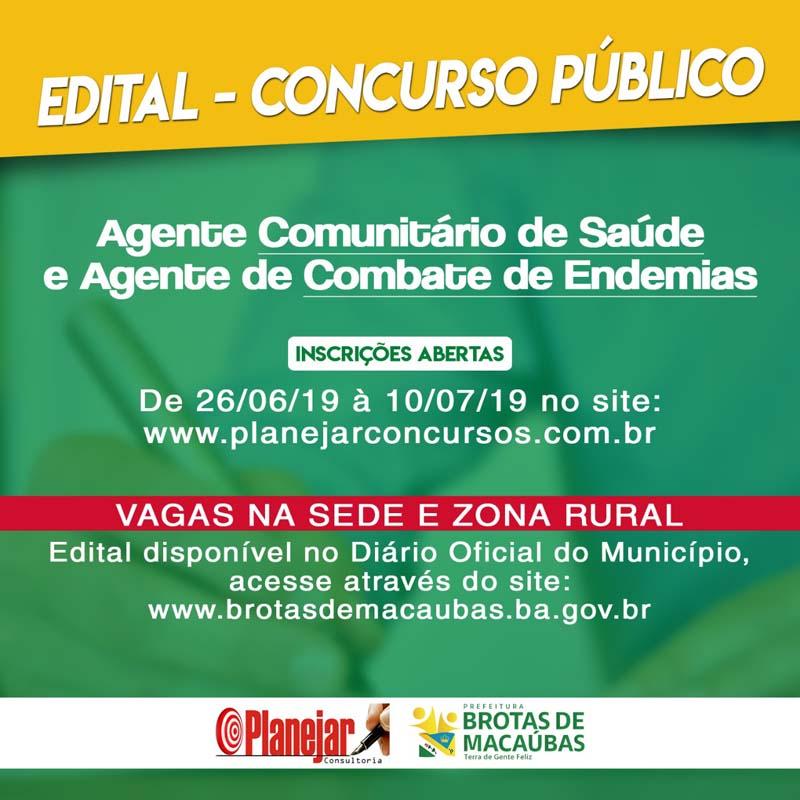 Concurso Brotas de Macaúbas - BA: Prefeitura publica edital